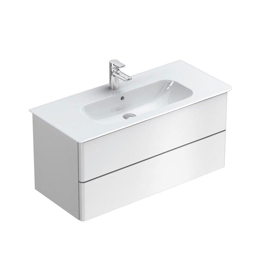 mobili con lavabo composizione softmood da ideal standard. Black Bedroom Furniture Sets. Home Design Ideas