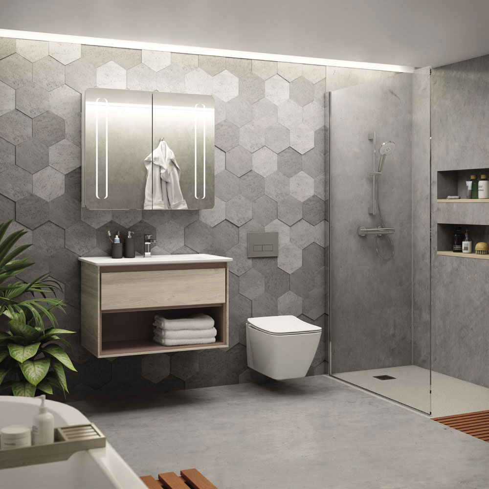 Mobili con lavabo composizione strada da ideal standard - Mobili bagno ideal standard ...