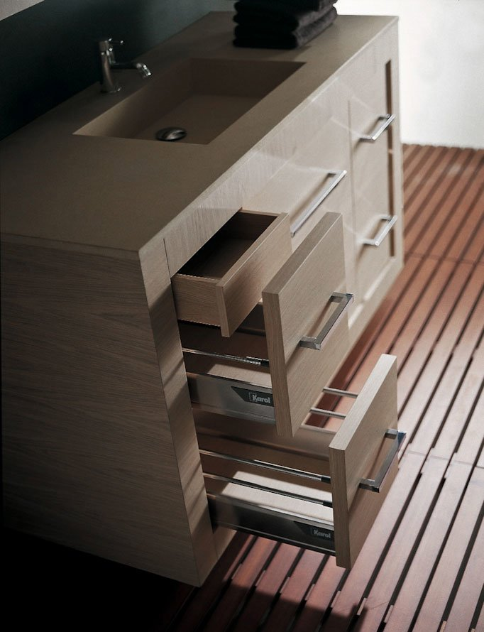 Mobili con lavabo composizione xil c da karol - Karol mobili bagno ...