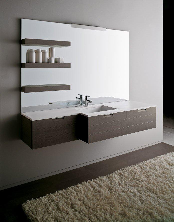 Mobili con lavabo composizione lignum c da karol - Karol mobili bagno ...