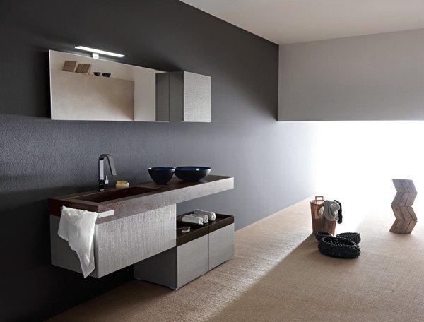 Mobili con lavabo composizione sky seghettato 102 da arbi - Arbi mobili bagno catalogo ...