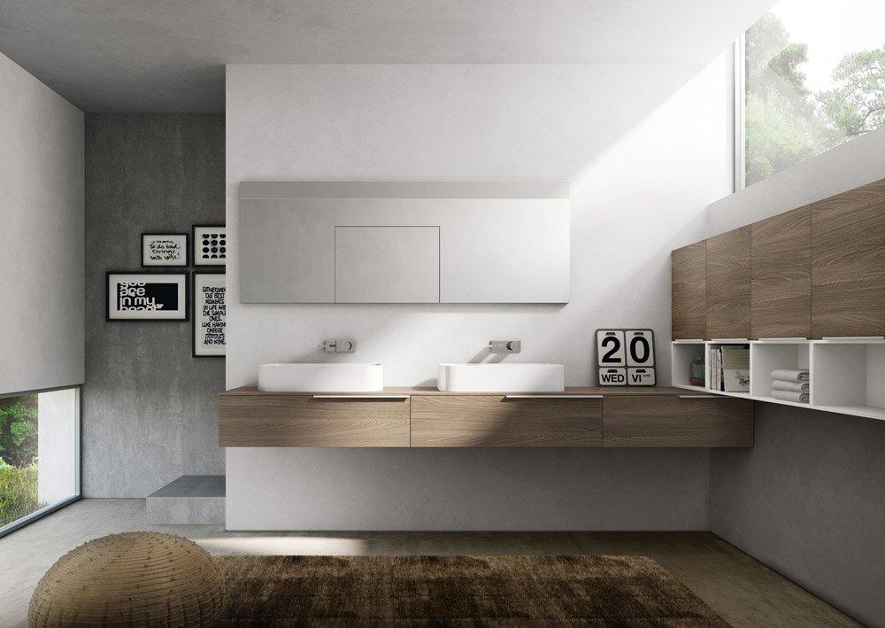 Mobili con lavabo composizione my time 07 da idea - Idea mobili bagno ...