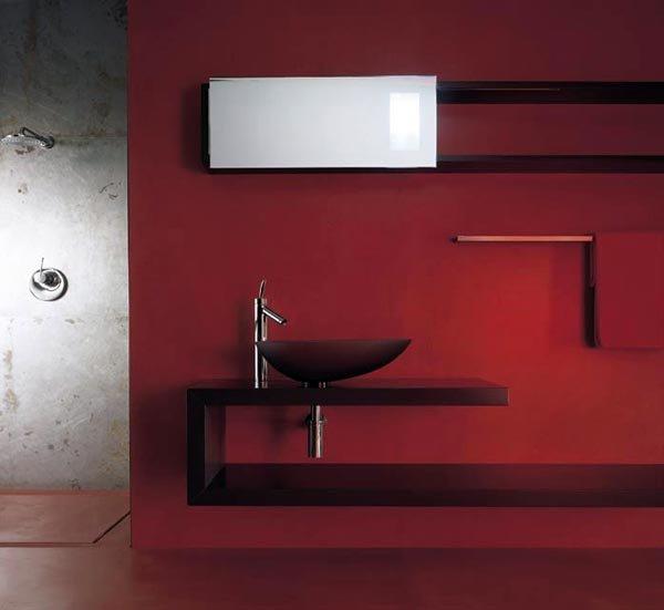 Mobili con lavabo composizione shelf b da moab 80 - Mobile bagno asimmetrico ...