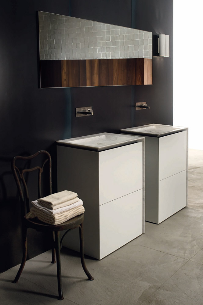 Washbasin cabinets set b15 by boffi bathrooms for Bathroom cabinets singapore
