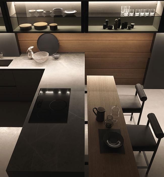 Mobili per cucina cucina light a da modulnova - Cucine in kerlite ...