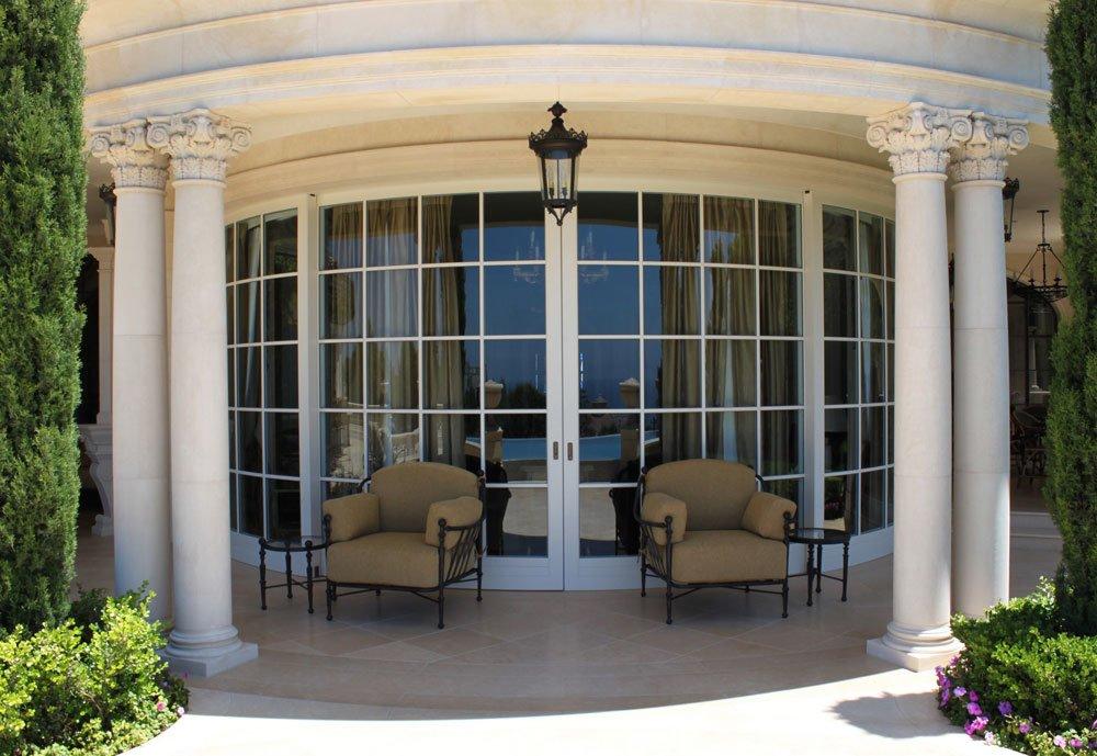 Porte finestre porta finestra alzante scorrevole curvo da - Porta finestra scorrevole ...