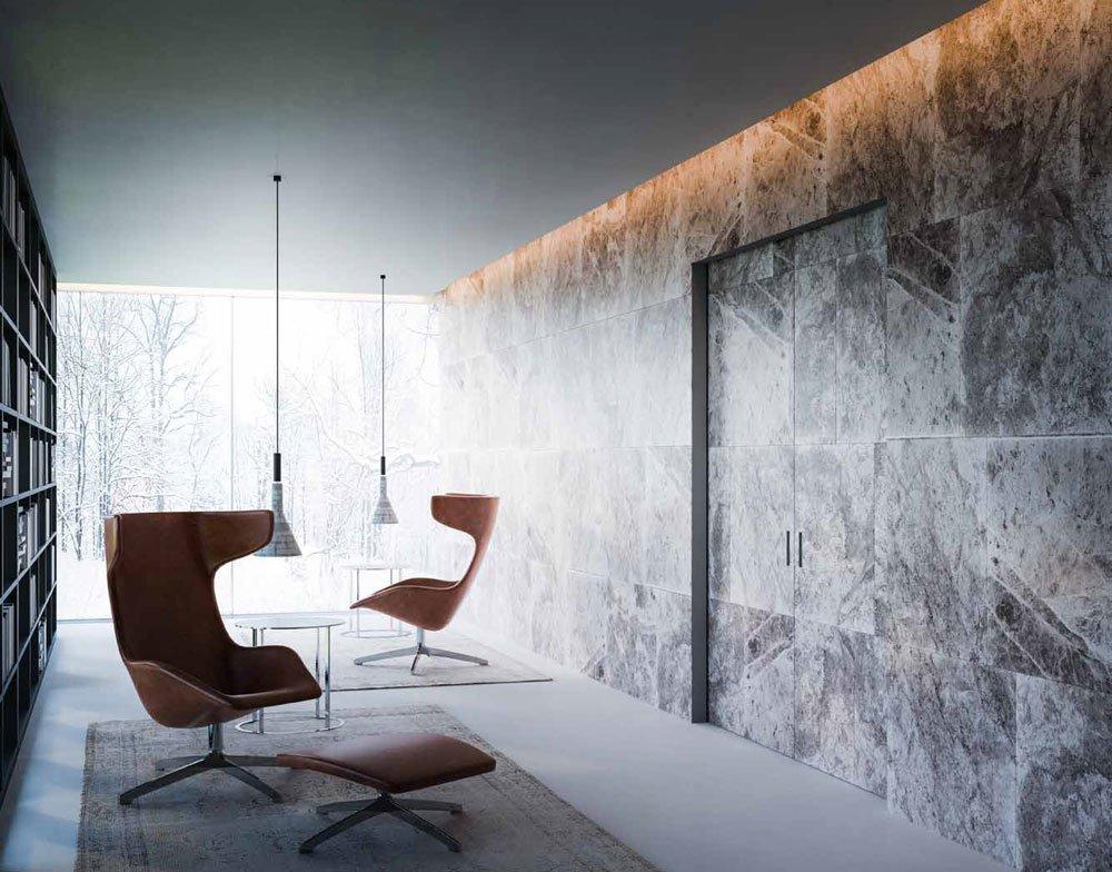 l 39 invisibile portarredo schiebet ren marea schiebet r in der wand laufend a designbest. Black Bedroom Furniture Sets. Home Design Ideas