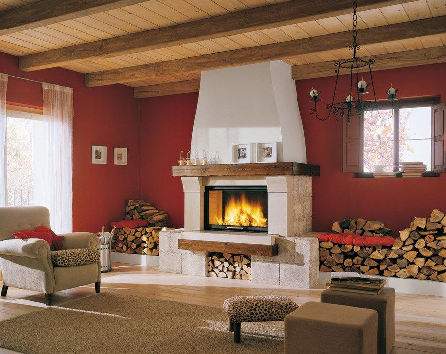 Termocamini e termostufe termocamino avignone da palazzetti - Termostufe a legna palazzetti ...