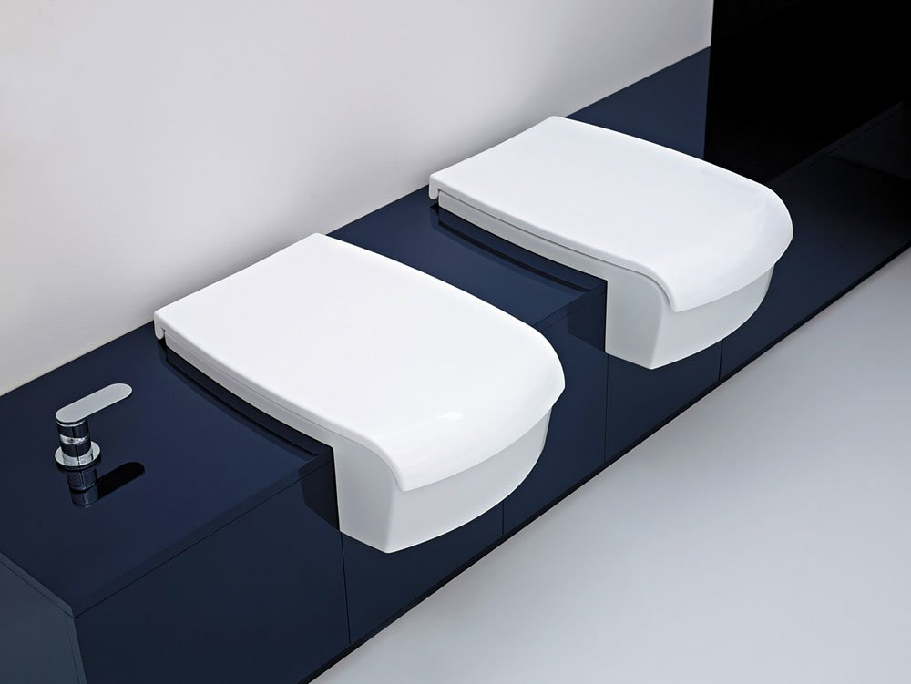 wc e bidet wc e bidet una da flaminia. Black Bedroom Furniture Sets. Home Design Ideas