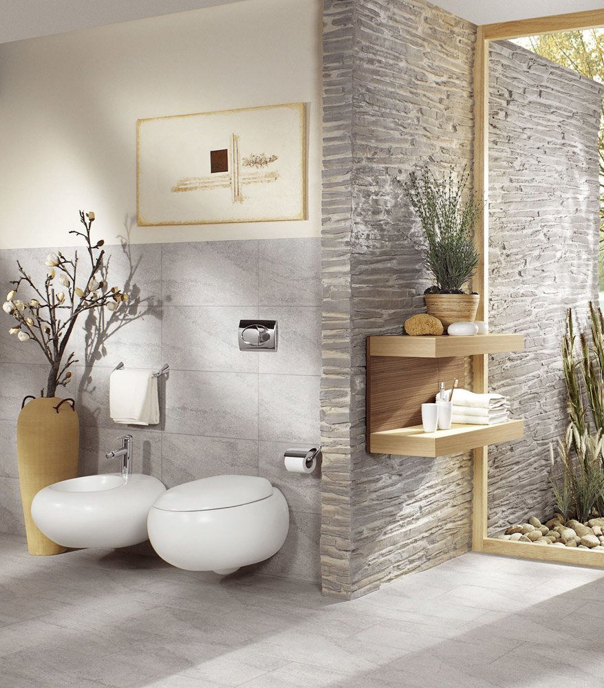 wc e bidet wc e bidet pure stone da villeroy boch bagno. Black Bedroom Furniture Sets. Home Design Ideas