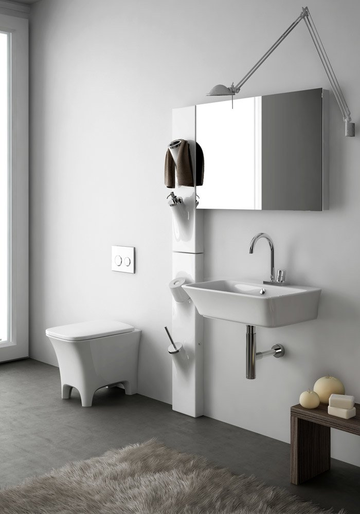 Accessori bagno porta scopino sotto sopra da artceram - Accessori bagno modena ...
