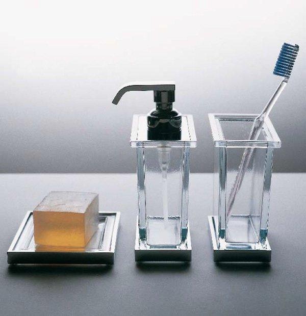 Accessori bagno porta spazzolino plate da bertocci - Spazzolino bagno ...