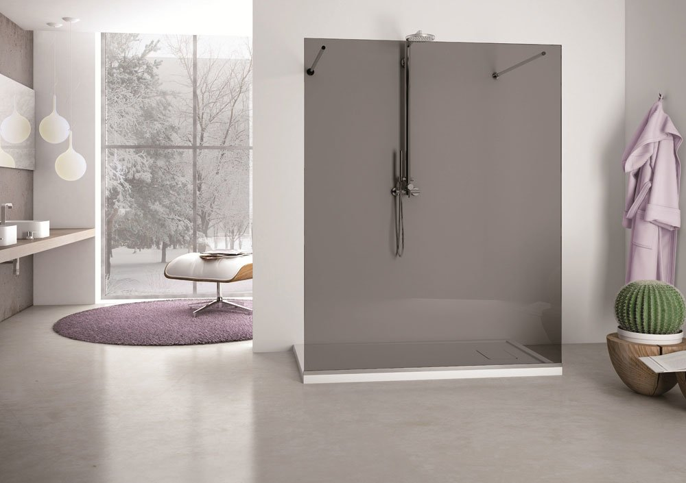 vetrocemento doccia : Box Doccia Vetrocemento : Box Doccia Semicircolare In Vetro Cristallo ...