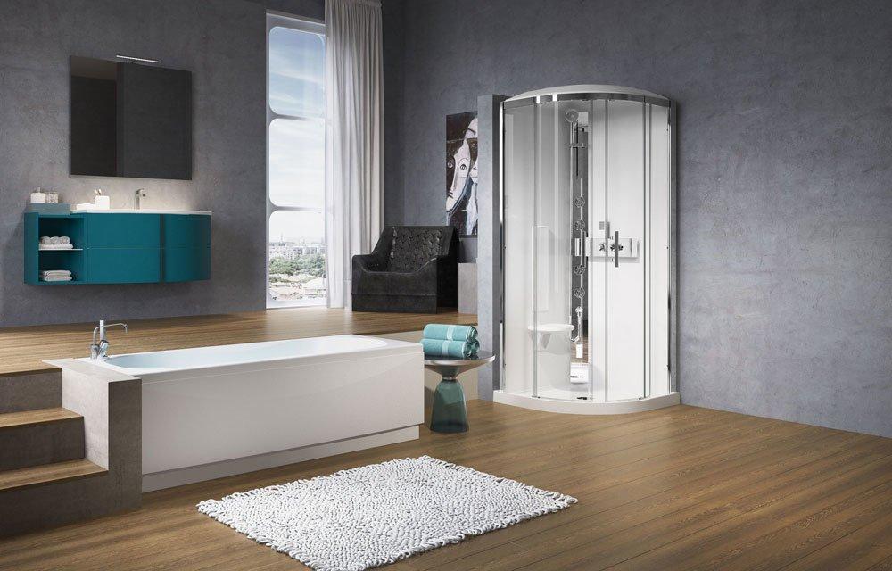 Cabine doccia cabina doccia glax 3 r90 da novellini - Cabine doccia novellini ...