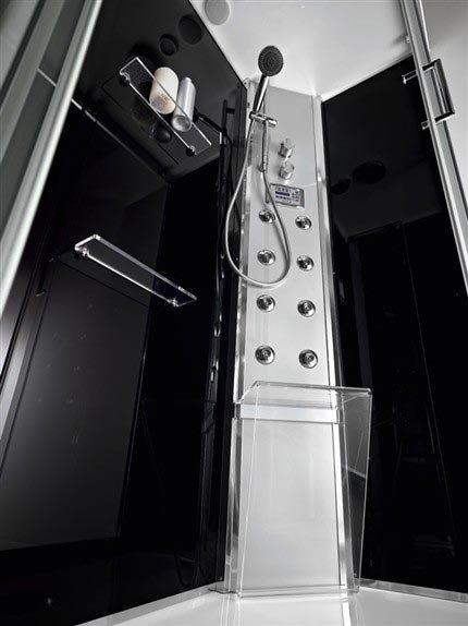 Cabine doccia cabina doccia luxury plano black da titan - Titan bagno san marino ...