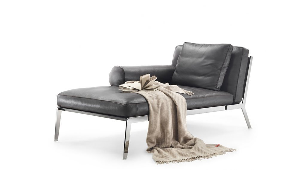 Flexform chaise longue chaise longue happy designbest for Chaise longue halle