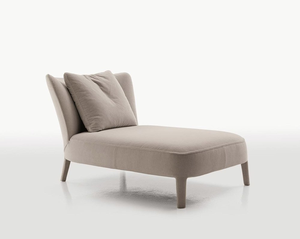 Chaise longue chaise longue febo by maxalto for Chaise longue design cuir