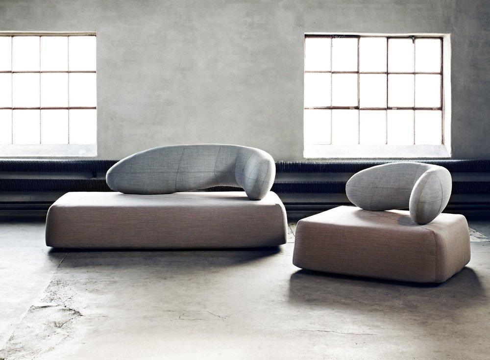 Chaise longue chaise longue chat by softline for Chaise longue d interieur design