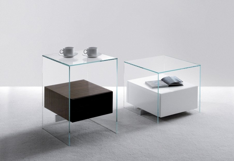Comodini comodino kit da former - Table de chevet verre ...