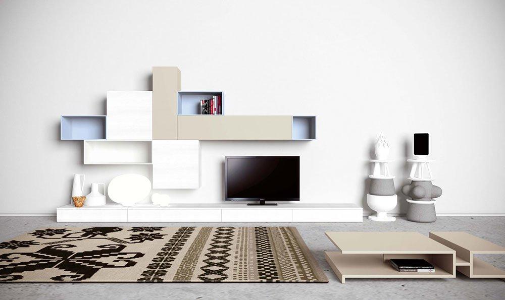 Composizioni soggiorno composizione g139 da novamobili for Composizioni soggiorno design