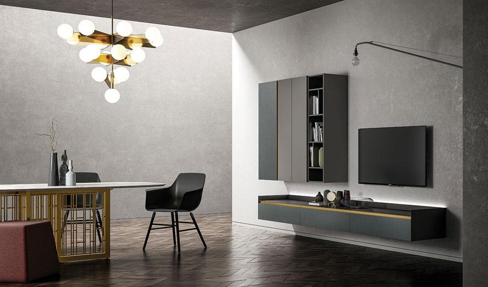 Composizioni soggiorno composizione slim 55 da dall 39 agnese for Composizioni soggiorno design