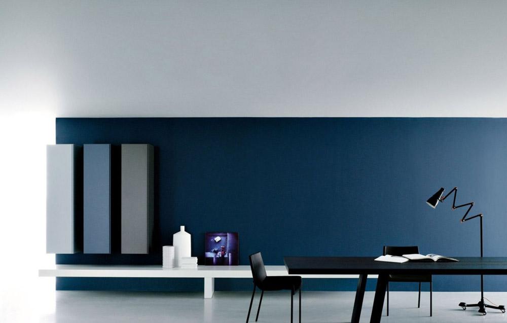 Regalsysteme wohnwand modern a von porro for Wohnwand modern design