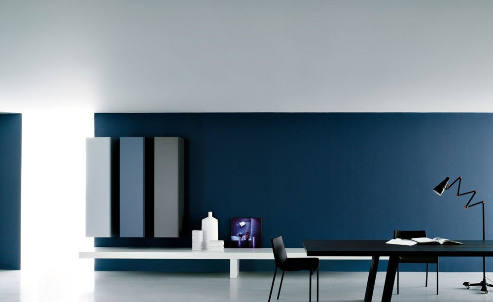 porro regalsysteme wohnwand modern a designbest. Black Bedroom Furniture Sets. Home Design Ideas
