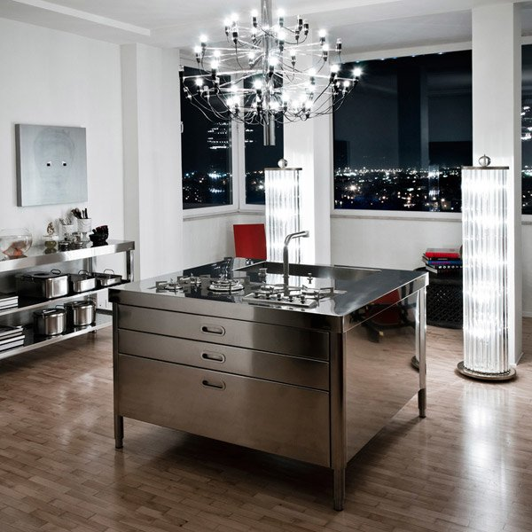 cucine free standing cucina c da alpes inox. Black Bedroom Furniture Sets. Home Design Ideas