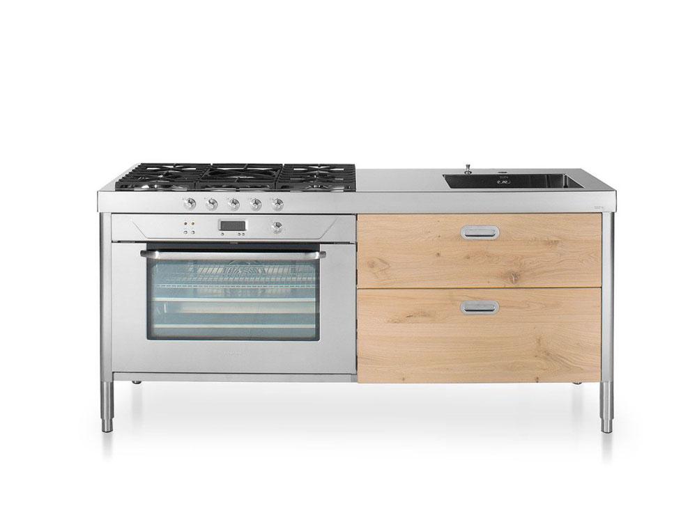 Cucine free standing cucina 190 c da alpes inox - Cucina freestanding ...