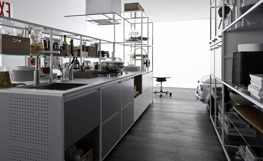 valcucine freistehende k chen k che meccanica a designbest. Black Bedroom Furniture Sets. Home Design Ideas