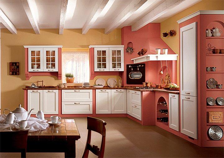Cucine in legno rustiche finest cucine su misura with - Esempi di cucine in muratura ...
