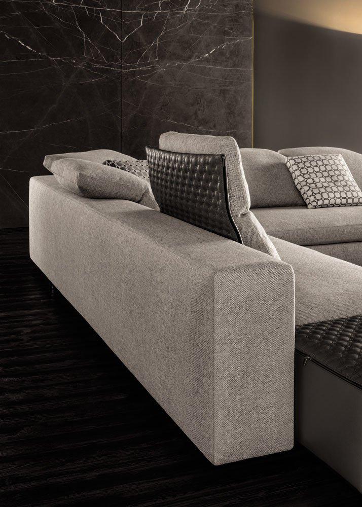 corner sofas set yang by minotti. Black Bedroom Furniture Sets. Home Design Ideas