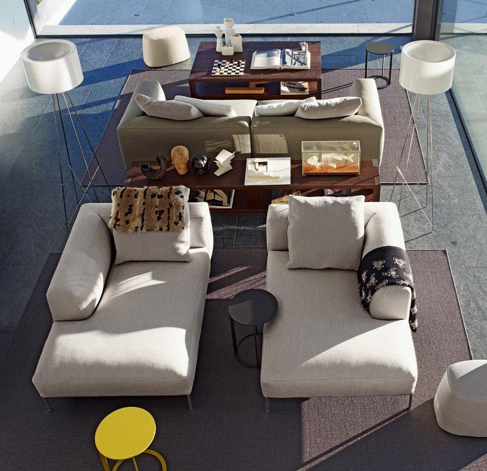 b b italia ecksofas sofakombination frank designbest. Black Bedroom Furniture Sets. Home Design Ideas