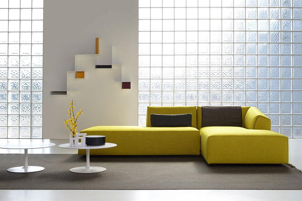Divani con penisola composizione thea da mdf italia for Divani sofa varese