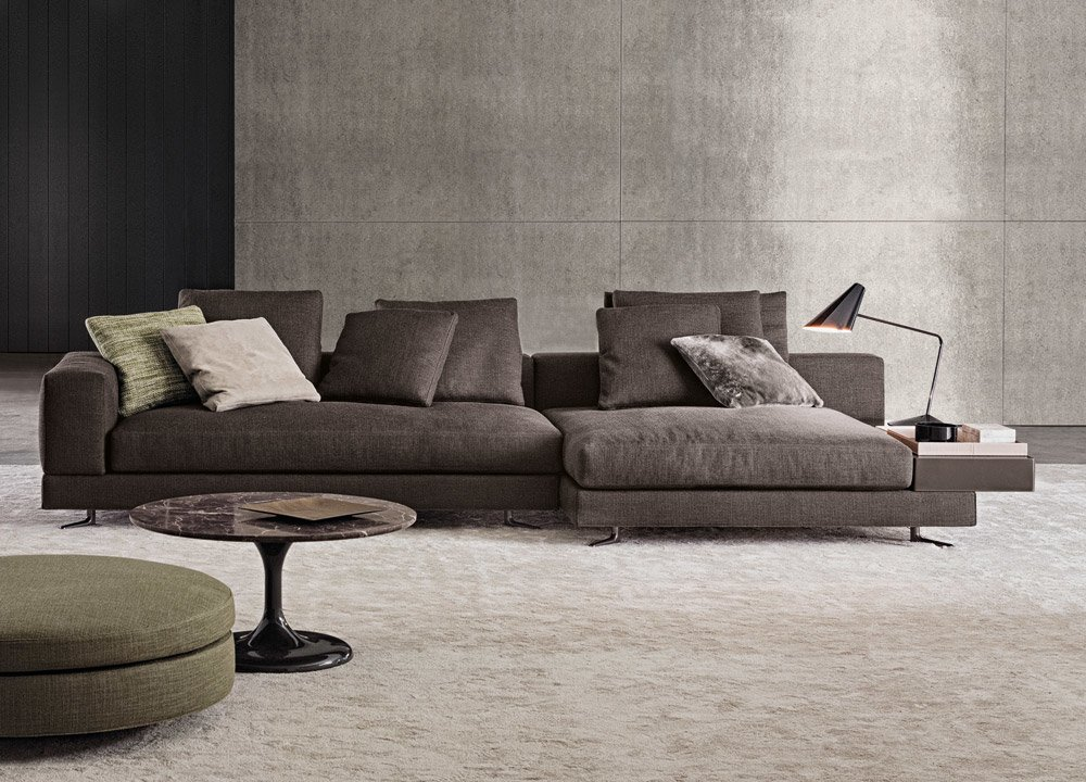 modular sofas arrangement white by minotti. Black Bedroom Furniture Sets. Home Design Ideas