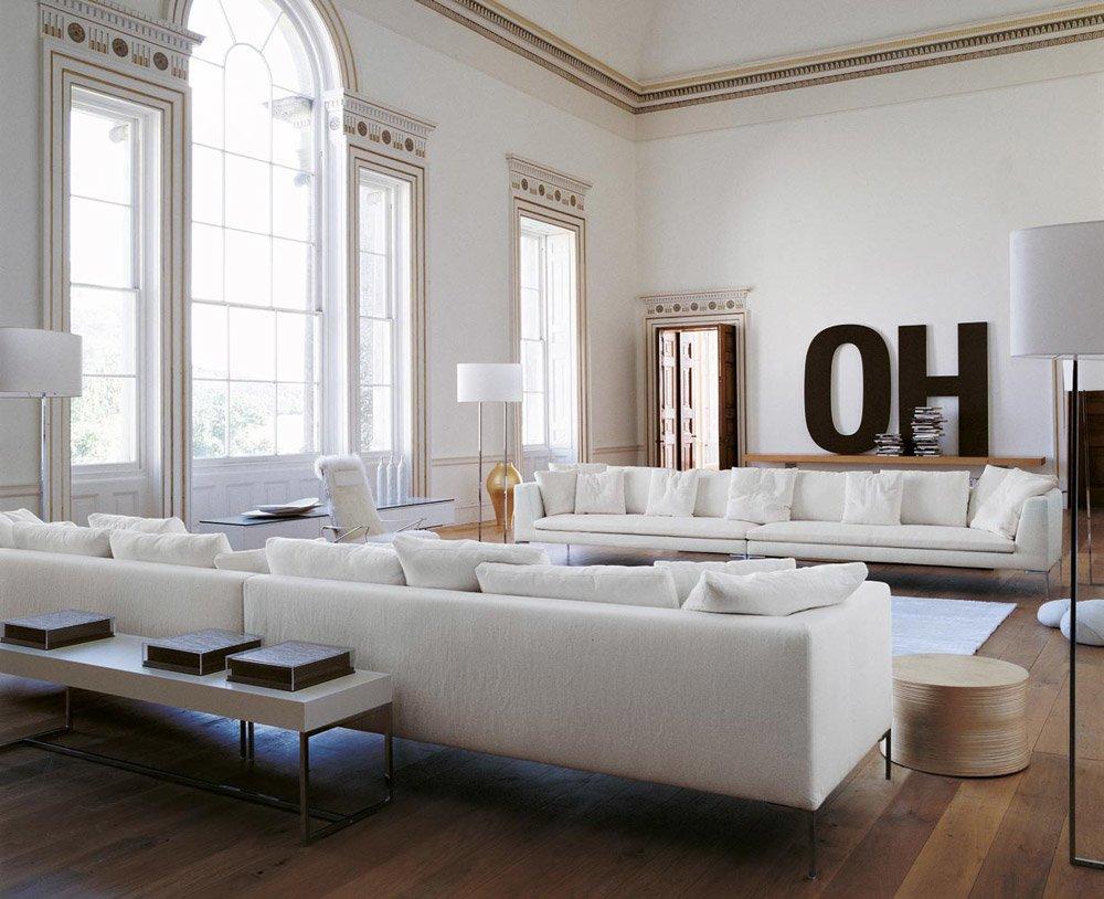 divani con penisola composizione charles large da b b italia. Black Bedroom Furniture Sets. Home Design Ideas
