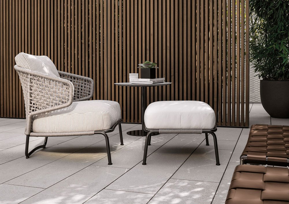 minotti gartensofas sessel aston cord outdoor designbest. Black Bedroom Furniture Sets. Home Design Ideas