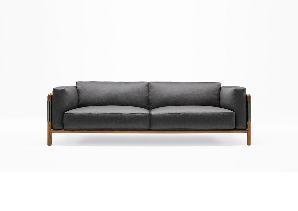 two seater sofas sofa urban by giorgetti. Black Bedroom Furniture Sets. Home Design Ideas