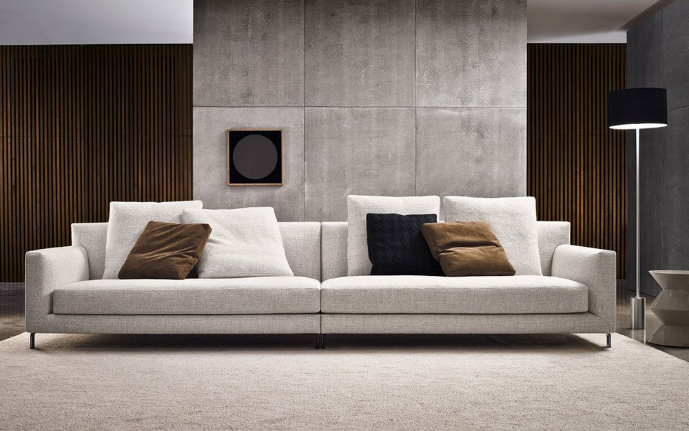 four seater sofas sofa allen by minotti