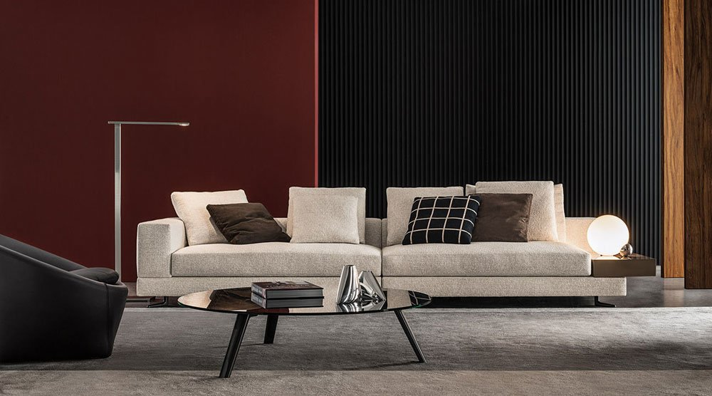 Four seater sofas sofa white by minotti for Divano minotti