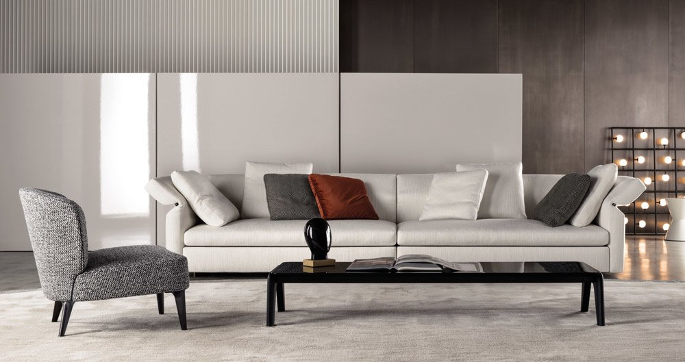 Four seater sofas sofa collar by minotti for Minotti divani