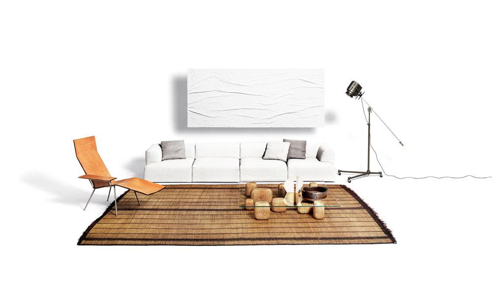 drei sitzer sofas sofa atalante von de padova. Black Bedroom Furniture Sets. Home Design Ideas