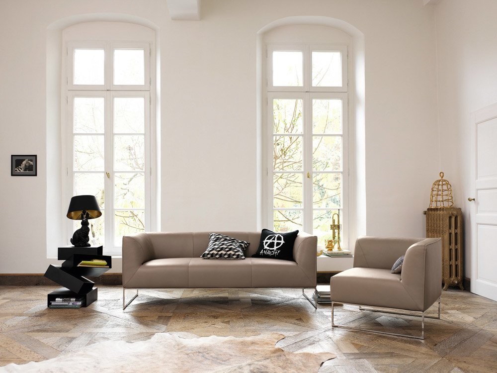 three seater sofas sofa mell by cor. Black Bedroom Furniture Sets. Home Design Ideas
