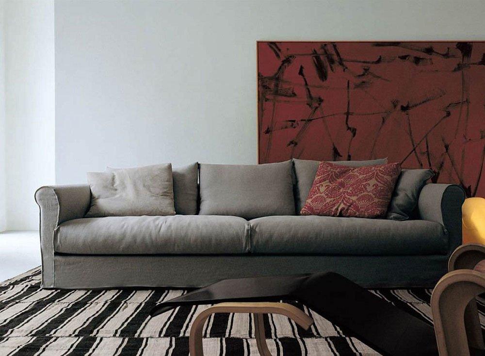 living divani drei sitzer sofas sofa dorian designbest. Black Bedroom Furniture Sets. Home Design Ideas