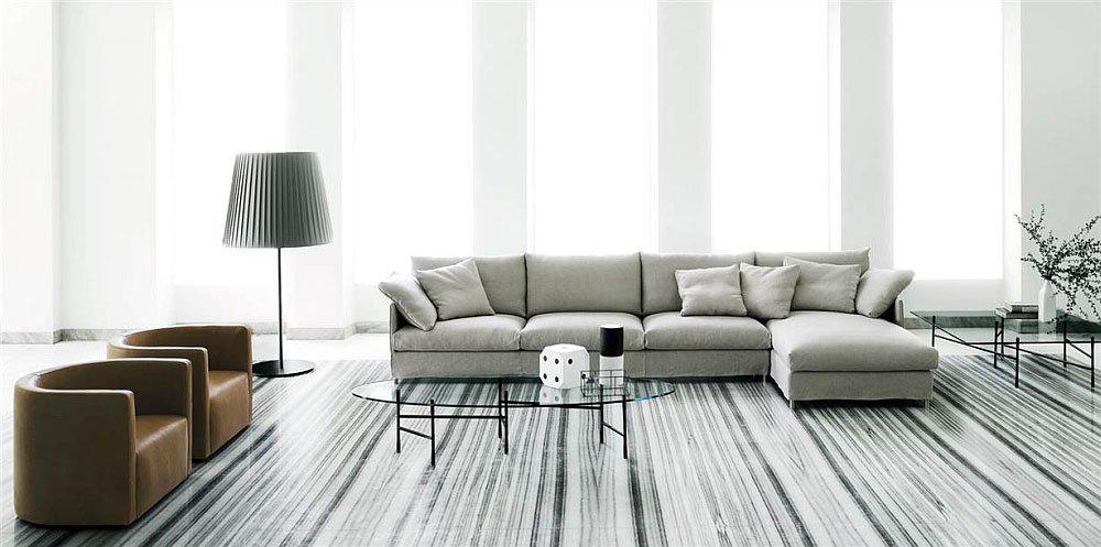 Three Seater Sofas Sofa Chemise XL by Living Divani : 309 divanitreposti 59005 b 10 from www.designbest.com size 1000 x 497 jpeg 87kB