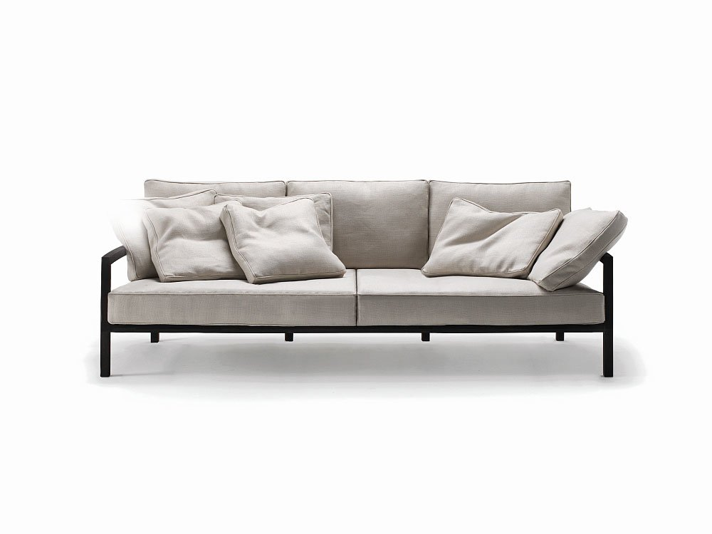 Three seater sofas sofa chromatic by living divani for Furniture 63366