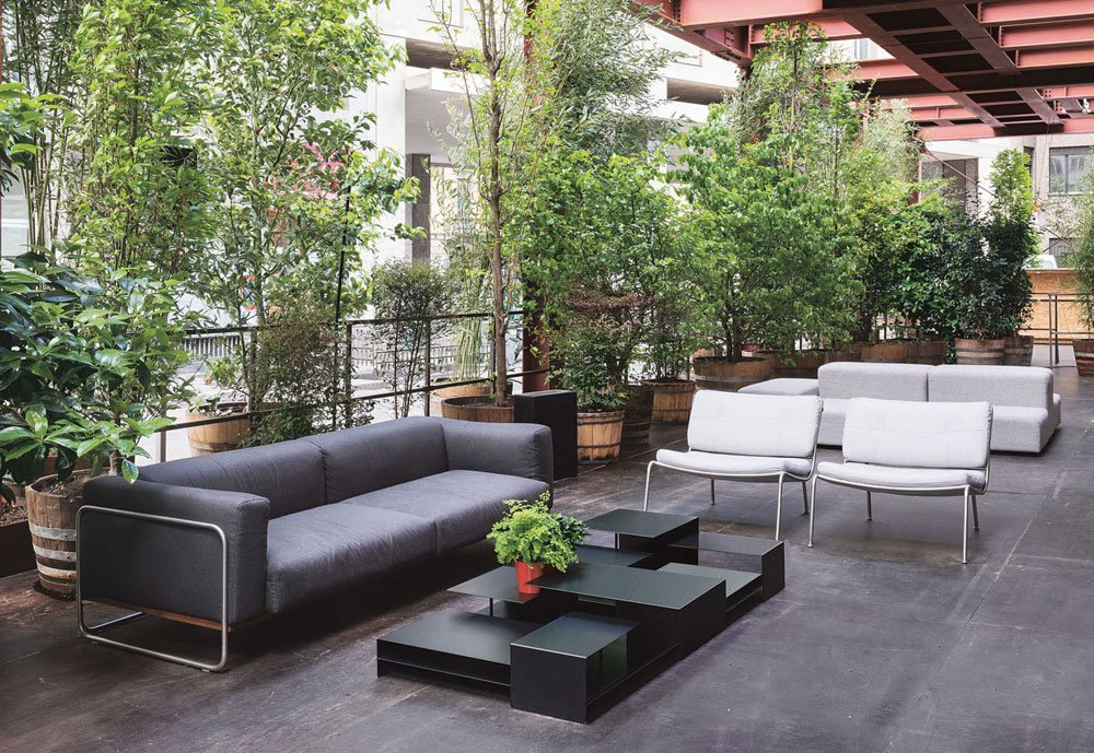 living divani drei sitzer sofas sofa filo outdoor designbest. Black Bedroom Furniture Sets. Home Design Ideas