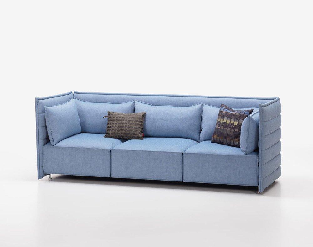 Vitra drei sitzer sofas sofa alcove plume designbest for Canape alcove bouroullec