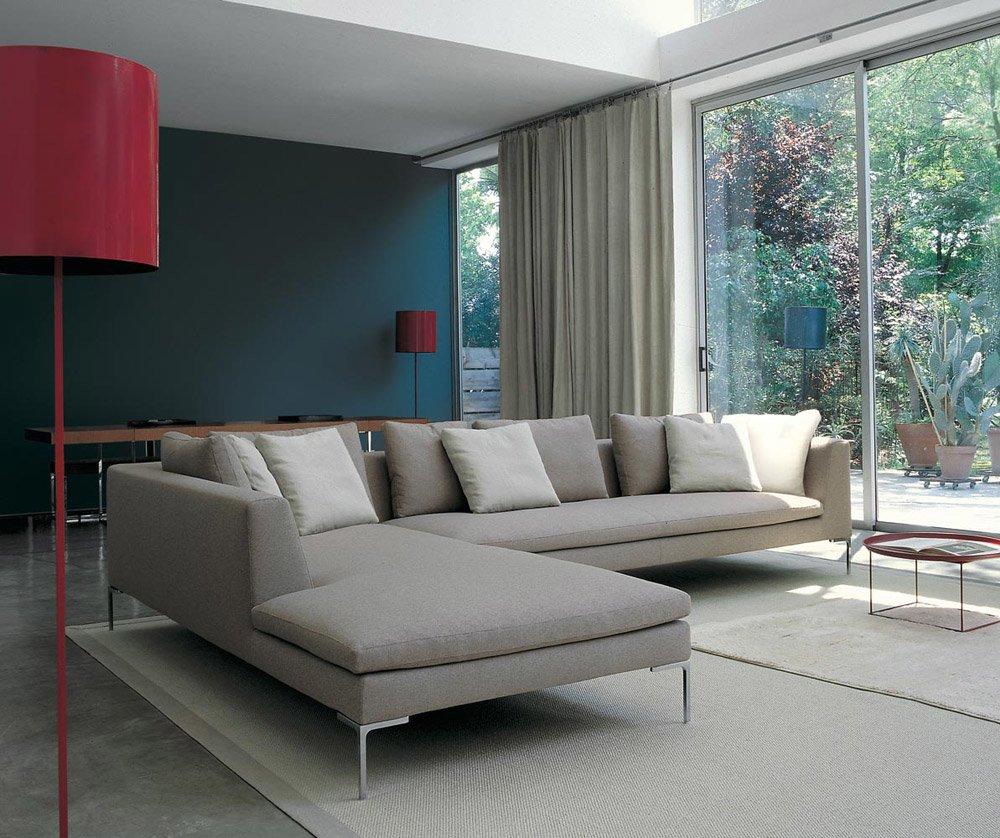 Divani tre posti divano charles da b b italia for B b italia divani catalogo