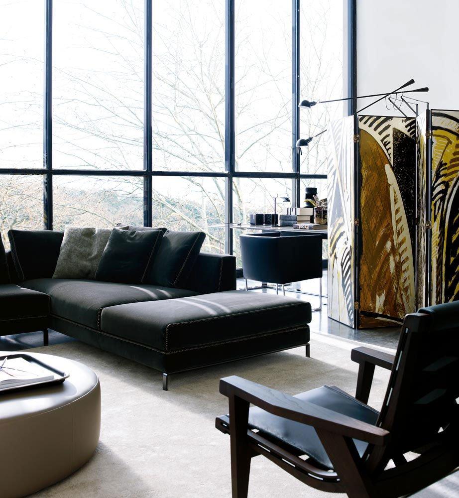 three seater sofas sofa ray by b b italia. Black Bedroom Furniture Sets. Home Design Ideas